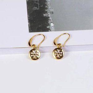 Tory Burch Metal Micro-Label Earrings